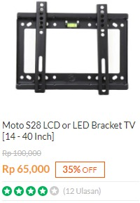 Bracket TV Moto S28 LCD / LED 14-40 Inchi