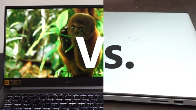 Acer Swift 3 SF314-57 vs. Dell Inspiron 3593 Face-off.