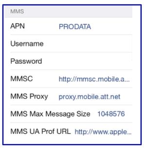 Pix Wireless Data Settings