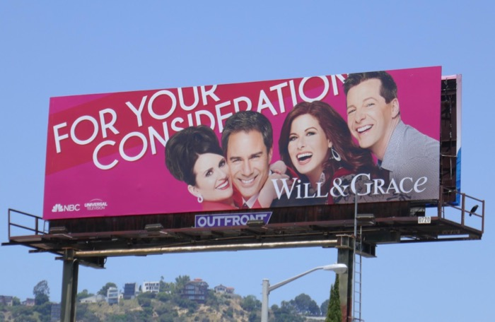 Will & Grace season 10 Emmy consideration billboard