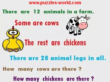 How many Cows and Chicken are there