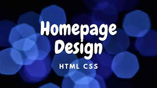 Homepage Design with Creative Menu Hover