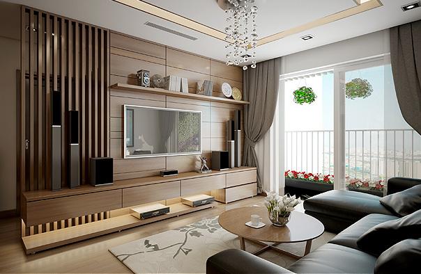 Thiết kế nội thất phòng khách căn hộ Ruby City Ct3