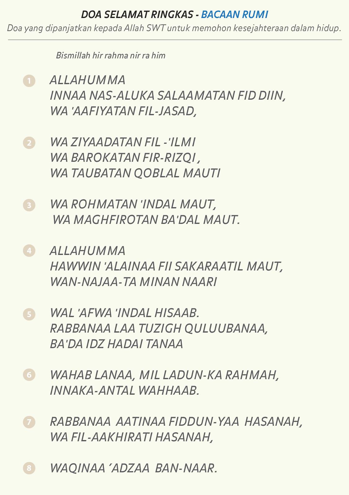 Allahumma Salamatan Fiddin : allahumma, salamatan, fiddin, Himpunan, Hadis, Pilihan:, Selamat, Ringkas