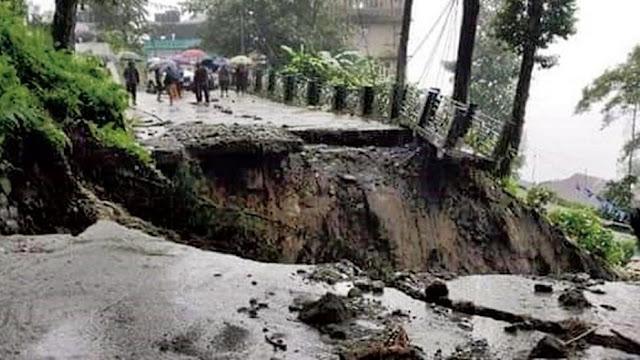 Landslides cut off vital link in Sikkim