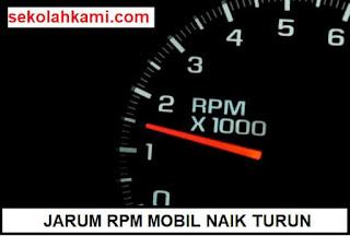 jarum rpm mobil naik turun