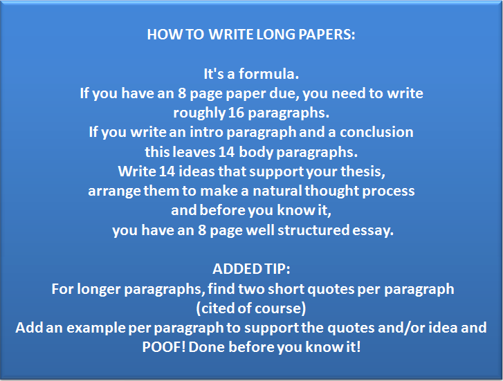 how to write an 8 page paper