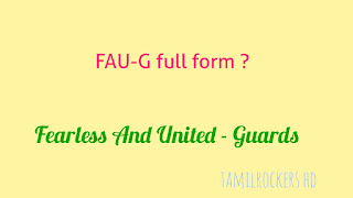 What is the full form of faug game