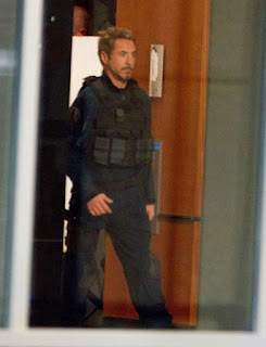 Avengers 4 set photo showing Tony Stark wearing SHIELD uniform