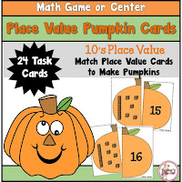 Place Value Pumpkins to the 10s place