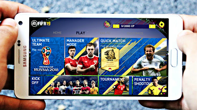 FIFA 14 MOD FIFA 18 Russia 2018 Android Offline 800 MB New Menu High Graphics