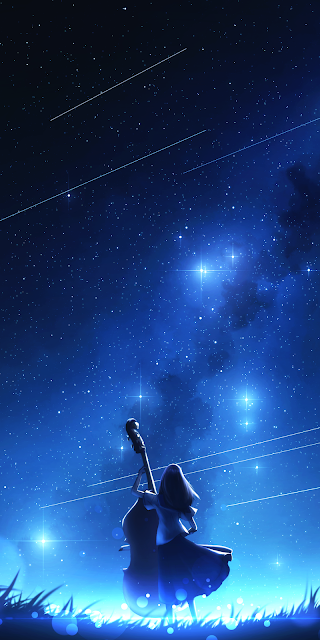 In the starry sky