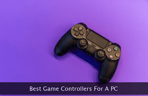 A black wireless game controller
