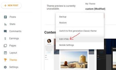 Theme Edit HTML