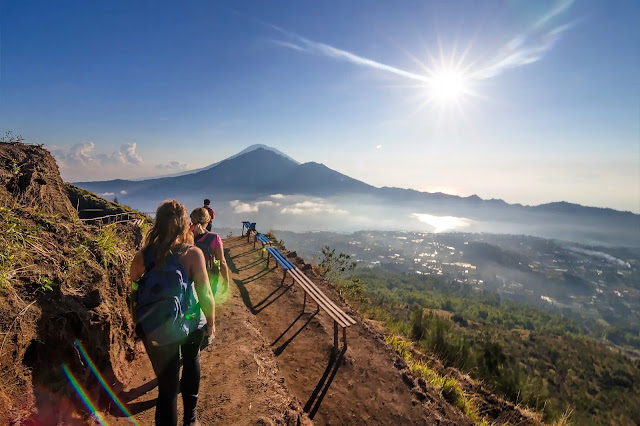 Climbing Batur mountain bali, indonesia