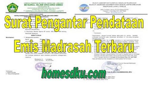 Surat Pengantar Pendataan Emis Madrasah Terbaru