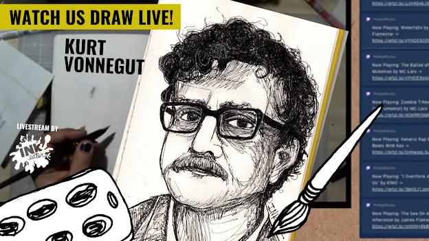 We Drew Kurt Vonnegut! - LIVE TIMELAPSE