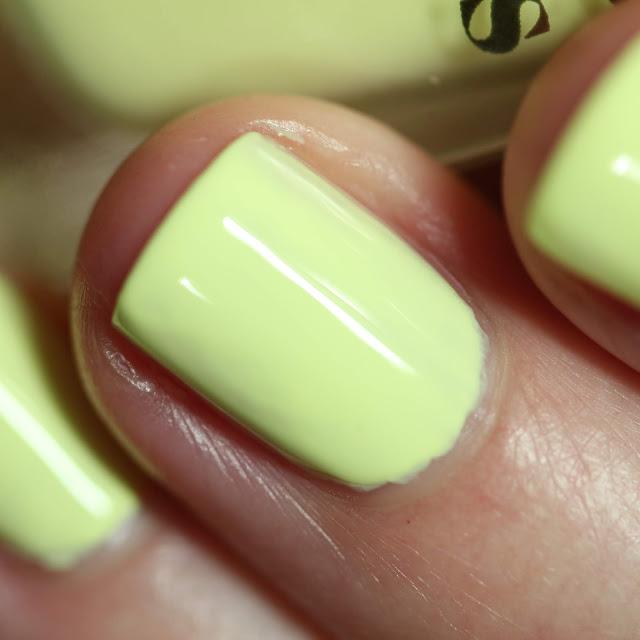 Cirque Colors Trompe L'oiel faded neon yellow nail polish