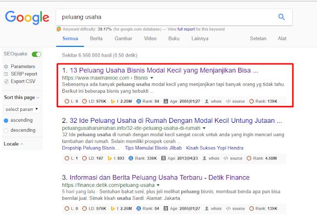 hasil pencarian peluang usaha di google - jamhuriweb
