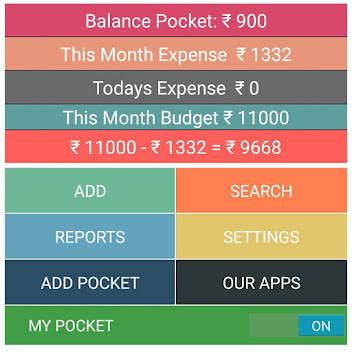 ANDROID : Money Expense View