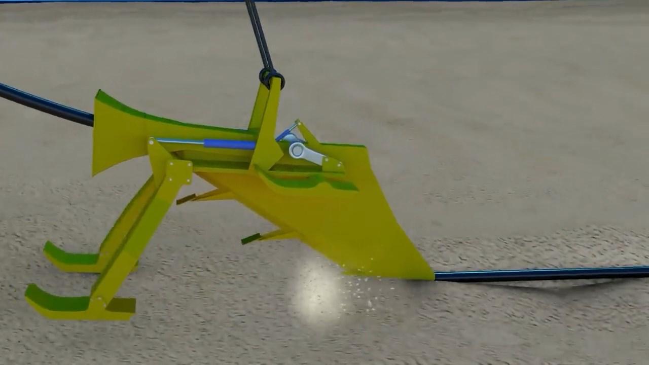 Ilustrasi Bajak pembuat jalan fiber optik