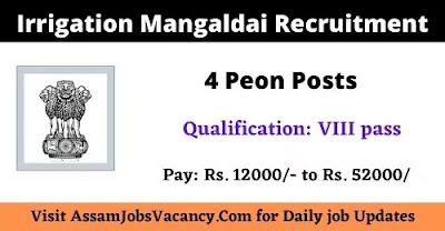 Irrigation Mangaldai Job 2021