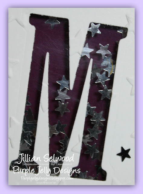 Lucky Stars embossing folder, Rich Razzleberry, Large Letters framelit dies