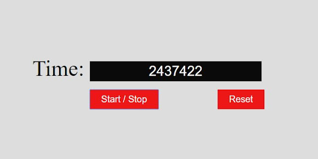beautiful stopwatch by html and javascript with counter timing