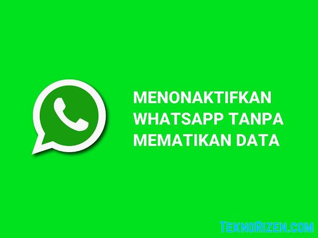 Cara Menonaktifkan WhatsApp Tanpa Mematikan Data
