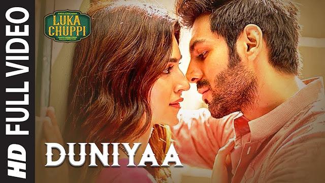 Duniya Lyrics - Luka Chuppi | Kartik Aaryan Kriti Sanon | Akhil, Dhvani B | Bob
