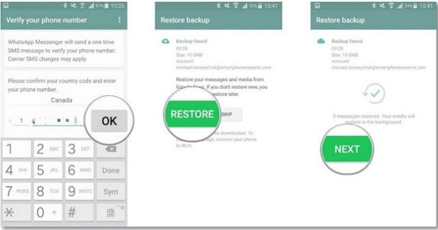 استعادة رسائل الواتس اب القديمة بدون نسخ احتياطي