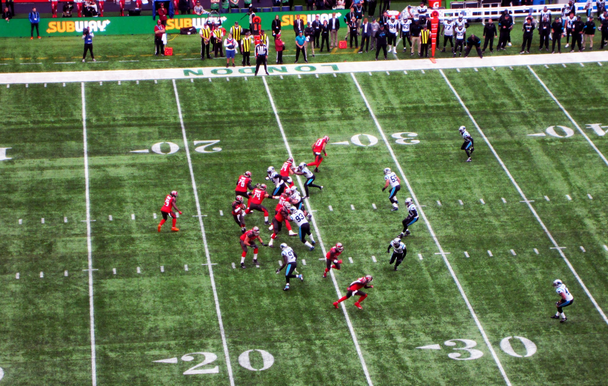 Jameis Winston of the Tampa Bay Buccaneers prepares to drop back to pass