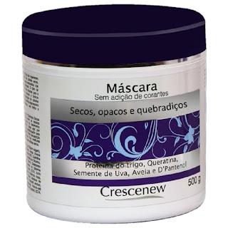 Máscara hidratação capilar de aveia cabelos secos e crespos 500 gramas.