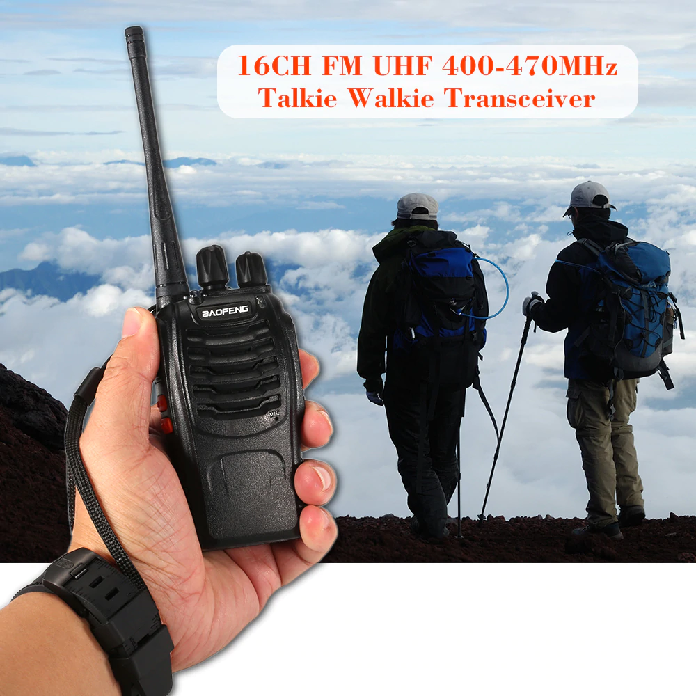 BAOFENG BF-888S 2PCS Talkie Walkie 16CH FM UHF 400-470MHz 2-way Radio Transceiver Portable Interphone Long Distance Flashlight 3M Electronix Cebu Philippines Electronics parts and components supplier online store