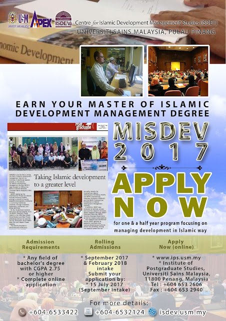 MASTER OF ISLAMIC DEVELOPMENT MANAGEMENT DEGREE