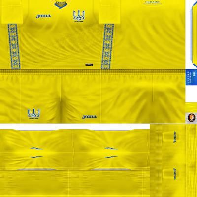 PES 6 Kits Ukraine National Team Season 2018/2019 by WindowOp Kitmaker