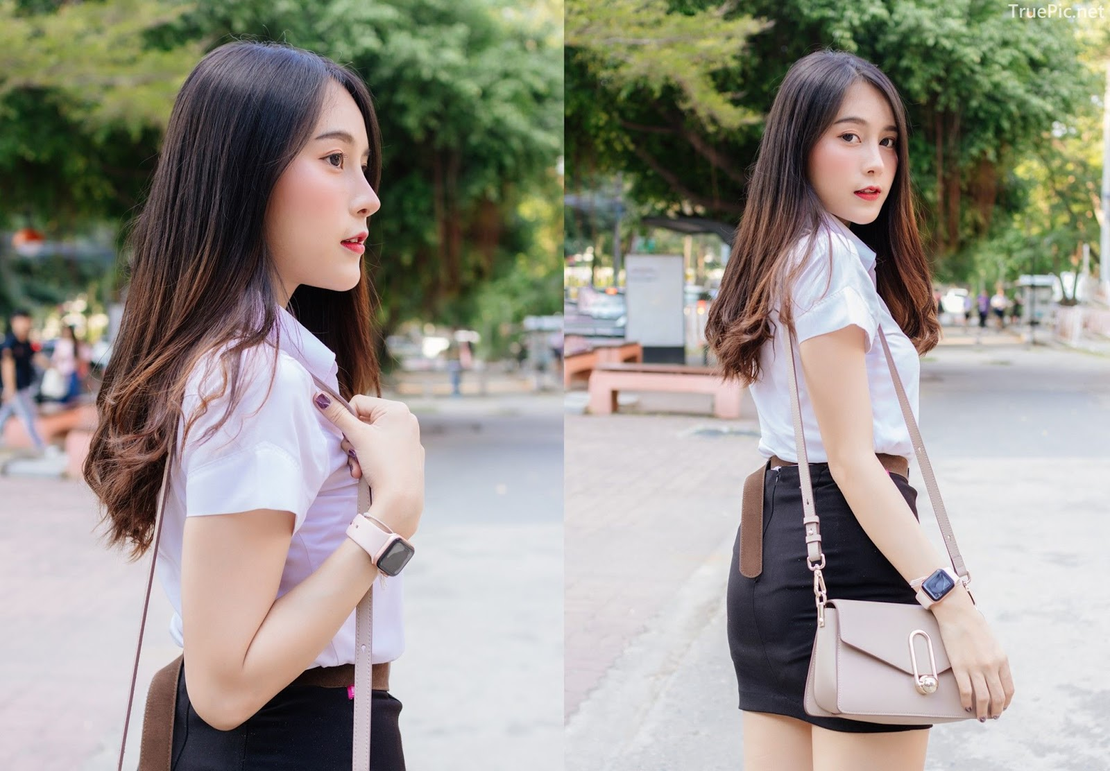 Thailand young model Lin Lee Hong with photo album Lovely Student - Picture 2