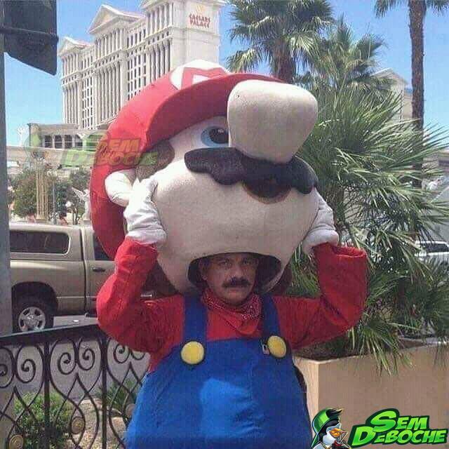 Mario vestido de Mario