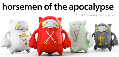 The Four Horsemen of the Apocalypse MAQET Plastin Figures by Yosiell Lorenzo