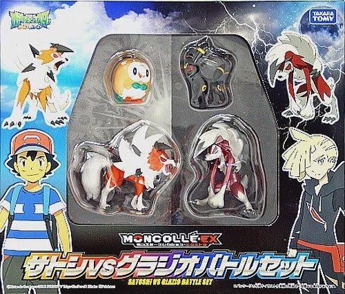 Rowlet figure alternative pose Takara Tomy MONCOLLE EX Ash VS Gladion Battle Set