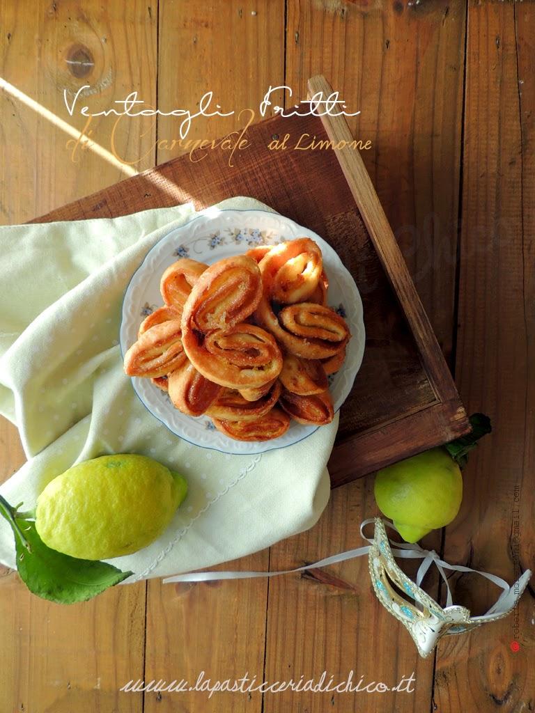 Ventagli fritti di Carnevale al limone - www.lapasticceriadichico.it