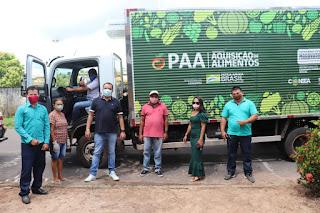 GOVERNADOR NEWTON BELLO-MA: Prefeitura entrega Caminhão Refrigerado 0KM para a Secretaria Municipal de Agricultura.