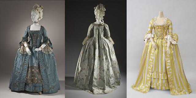 vestido à francesa século xviii