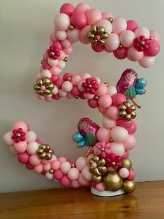 Number Five Balloon Frame designed by Sue Bowler