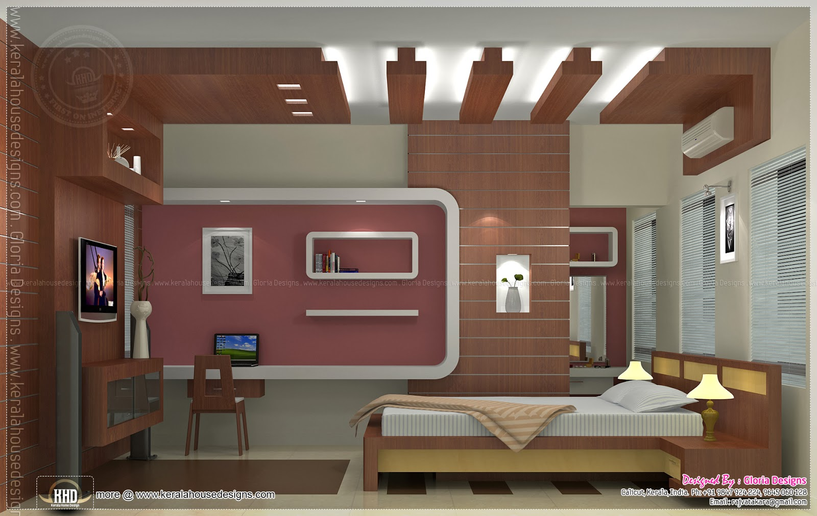 Home interior designs by gloria designs calicut kerala for Kerala house interior painting photos
