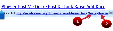 for changing blog post url clik on link and change or reomove