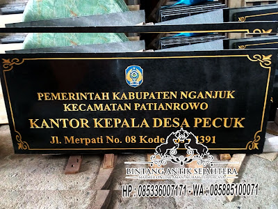 Papan Nama Kantor Pemerintahan, Prasasti Peresmian Kantor Desa, Papan Nama Granit