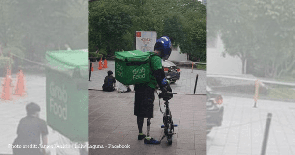 Grab Food Driver with Prosthetic Leg Goes Viral