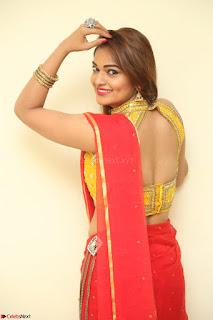 Actress Ashwini in Golden choli Red saree Spicy Pics ~  079.JPG