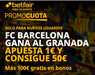 betfair promocuota Barcelona gana Granada 3 febrero 2021